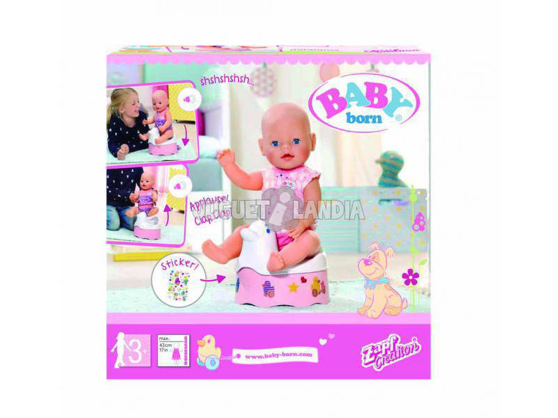 Baby Born Orinal Interactivo Bandai 82253