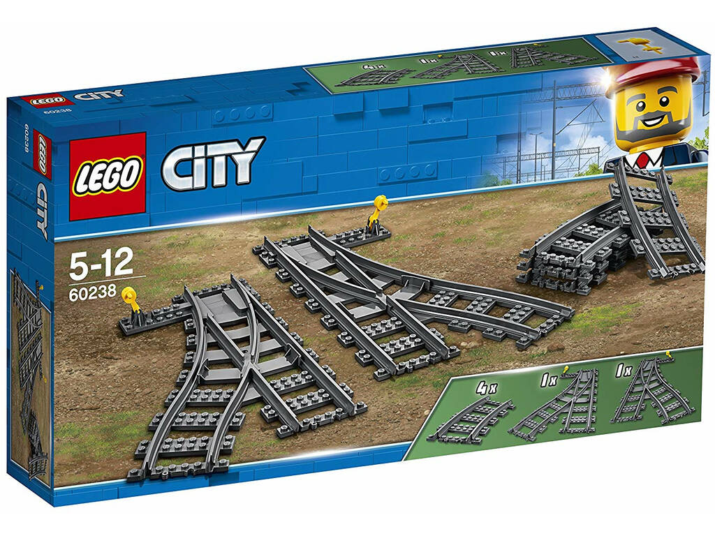 Lego City Mudança de Agulhas 60238