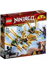 imagen Lego Ninjago Dragón Dorado 70666