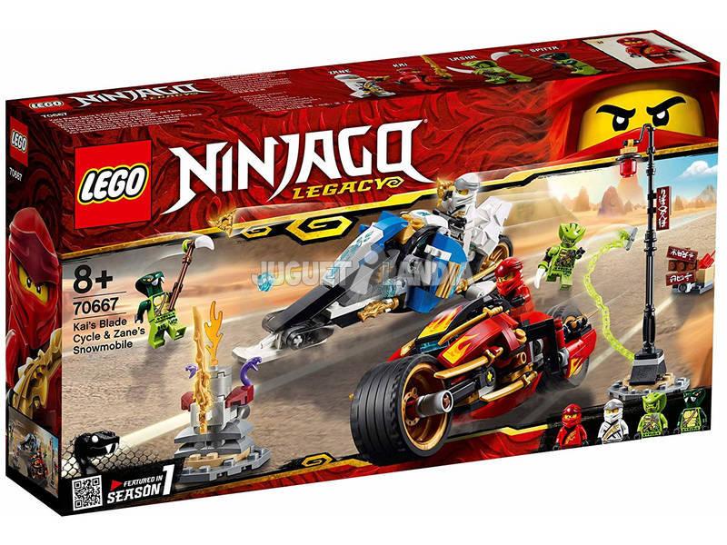 Lego Ninjago A Mota de Espadas do Kai e a Mota de Neve do Zane 70667