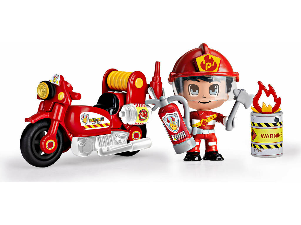Pinypon Action Moto de Pompier Famosa 700014783