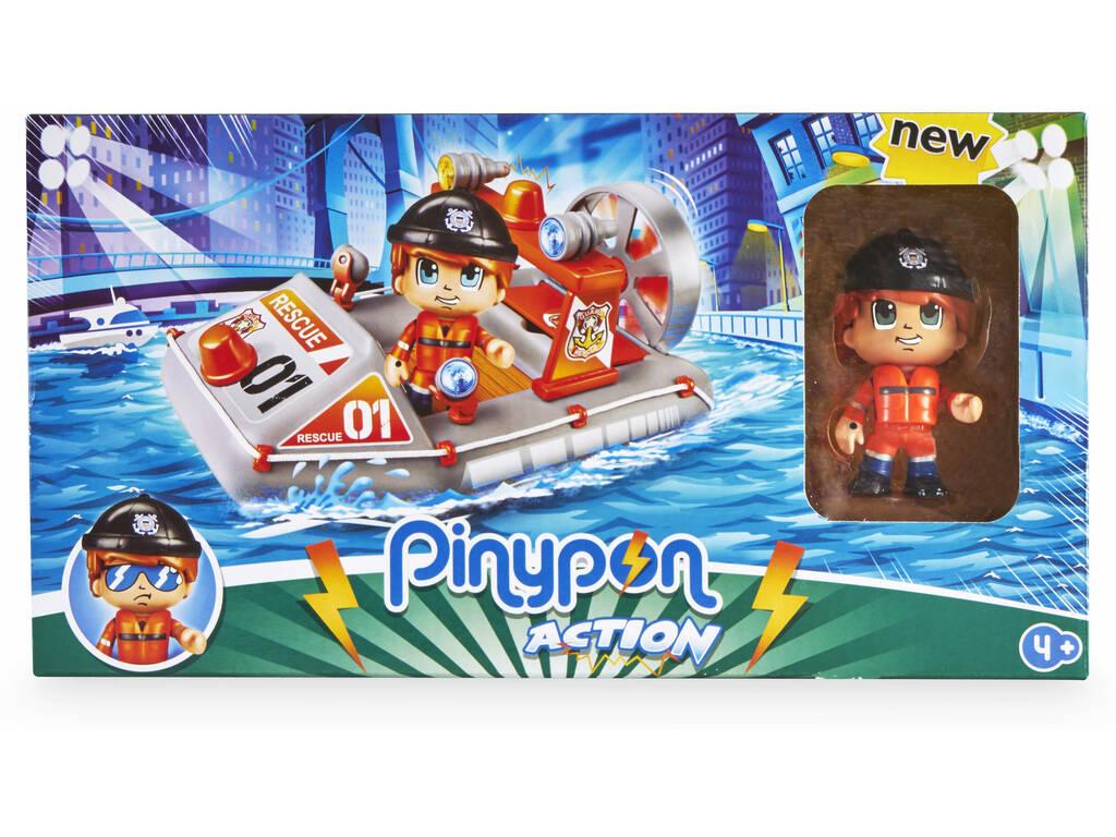 Pinypon Action Motoscafo Salvataggio con Figura Famosa 700015050