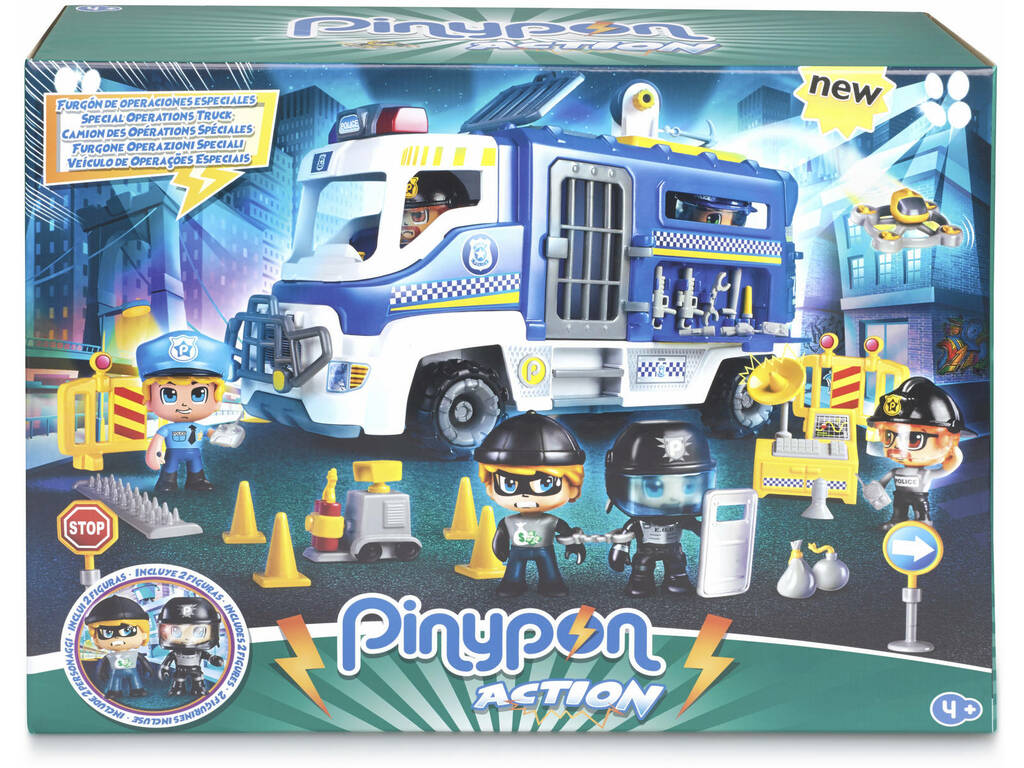 Pinypon Action Furgón de Operaciones Especiales Famosa 700014784
