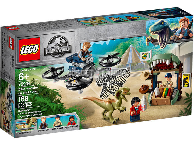 Lego Jurassic World Dilofosauro in fuga 75934
