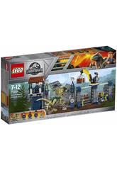 Lego Jurassic World Attaque du Dilophosaurus au Poste de Surveillance 75931