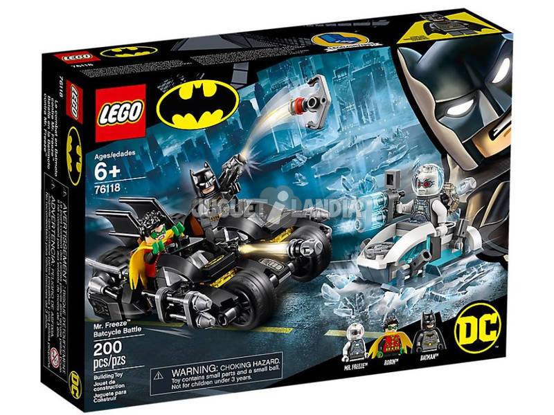 Lego Super Heróes Batmoto contra Mr.Freeze 76118