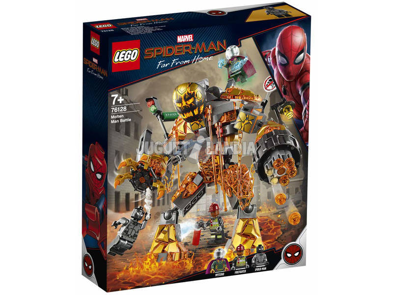 Lego Molten Man Battle Spiderman Far From Home 76128