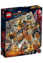 imagen Lego Super Heroes Spiderman Far From Home Batalla Contra Molten Man 76128