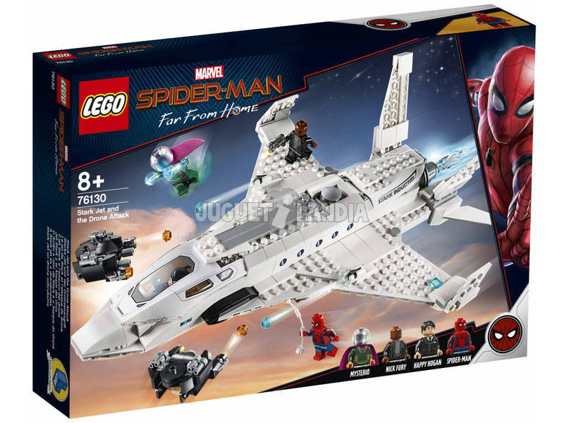 Lego Super Heroes Spiderman Far From Home Jet Stark y el Ataque Dron 76130