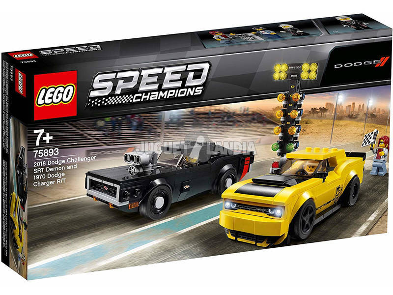 Lego Speed Champions Dodge Challenger SRT Demon 2018 e Dodge Charger R/T 1970 75893