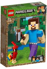 Lego Minecraft BigFig Series 1 Steve mit Papagei 21148