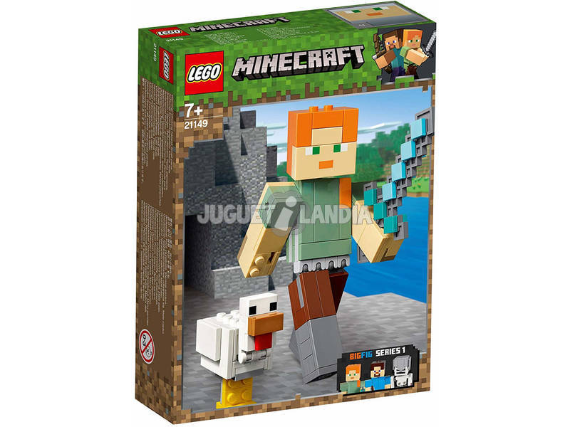 Lego Minecraft BigFig Series 1 Alex con Gallina 21149