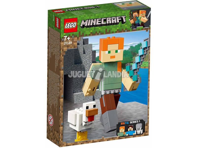 Lego Minecraft BigFig Series 1 Alex com Galinha 21149
