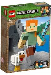 imagen Lego Minecraft BigFig Series 1 Alex con Gallina 21149