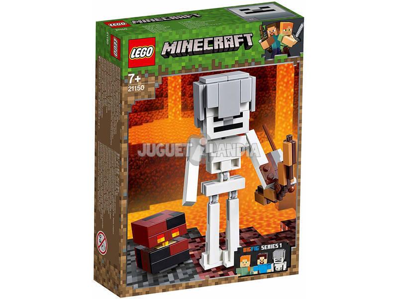 Lego Minecraft BigFig Series 1 Esqueleto con Cubo de Magma 21150