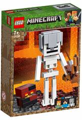 Lego Minecraft Maxi-figure Minecraft dello Scheletro con cubo di magma 21150