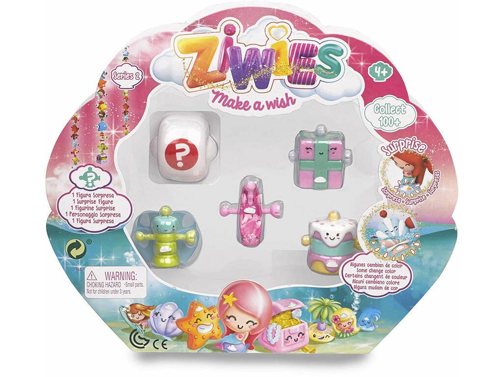 Ziwies Pack 5 Figurinhas Famosa 700014883