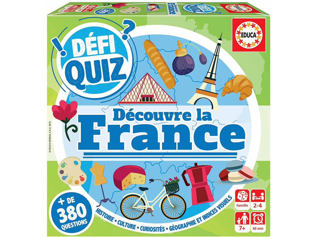Defi Quiz Découvre La France Francés Educa 18155