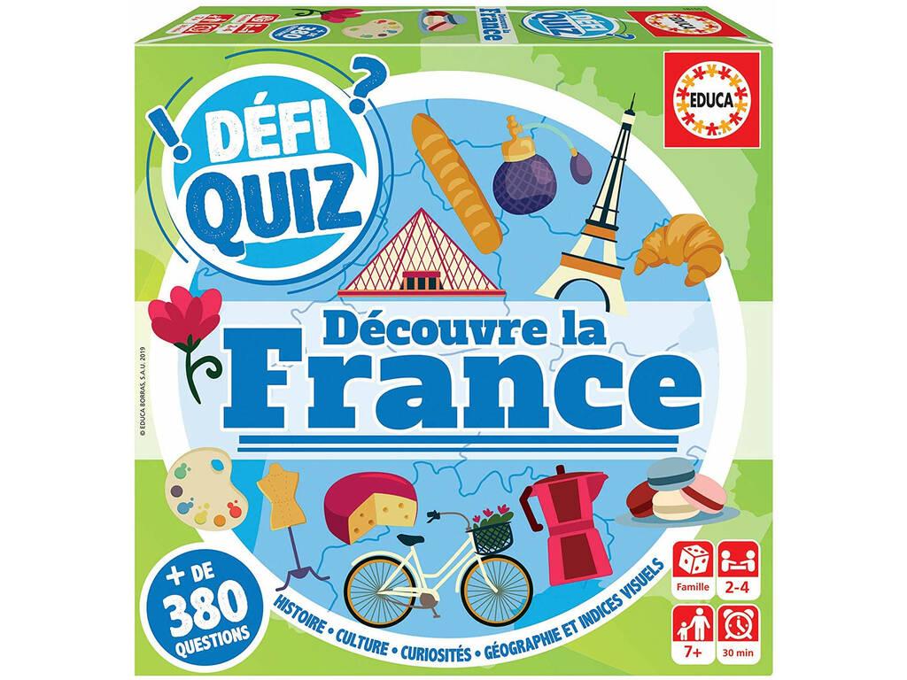 Defi Quiz Découvre La France Francese Educa 18155