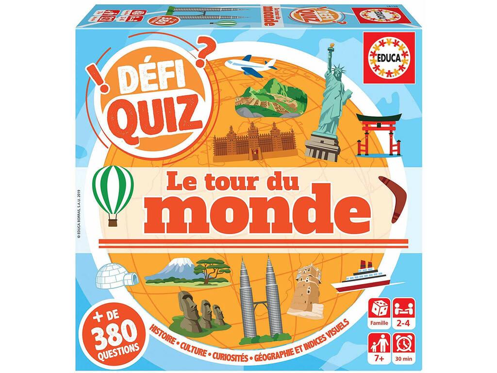 Defi Quiz Le Tour Du Monde Francese Educa 18156