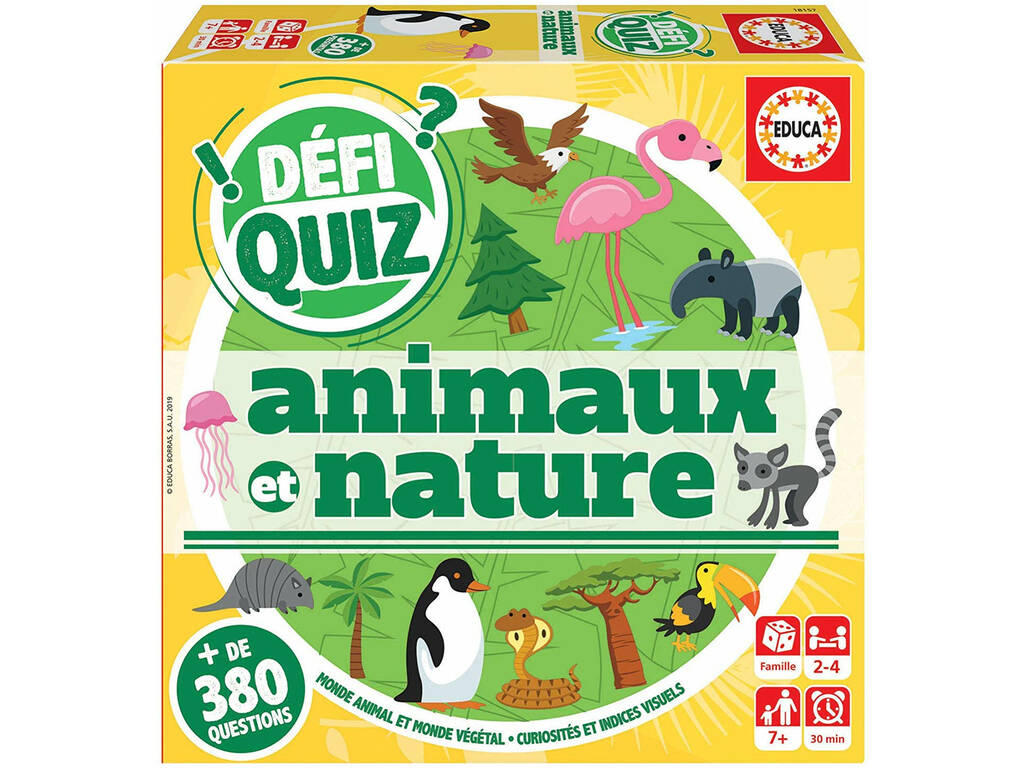 Defi Quiz Animaux Et Nature Francese Educa 18157