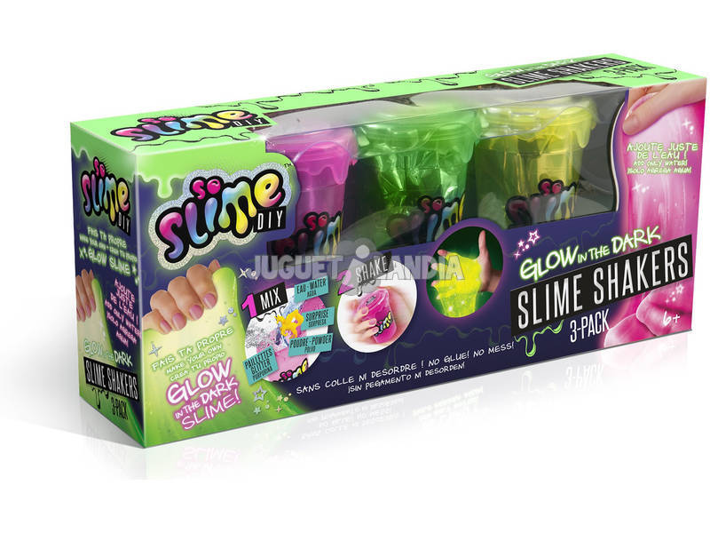 Slime Shaker Pack 3 Glow In The Dardk / Color Change Canal Toys SSC 036
