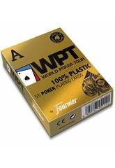 Jeu de Cartes Poker WPT 100% Plastique Gold Edition Fournier 1033745
