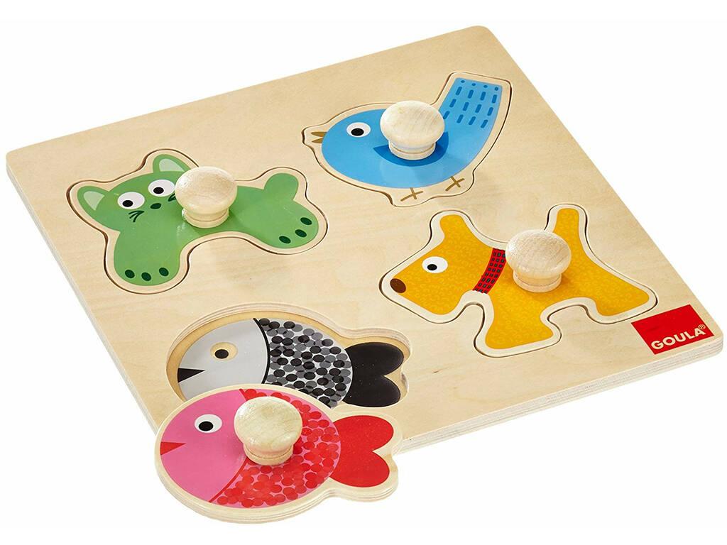 Puzzle Legno Goula Animali Domestici Diset 53116