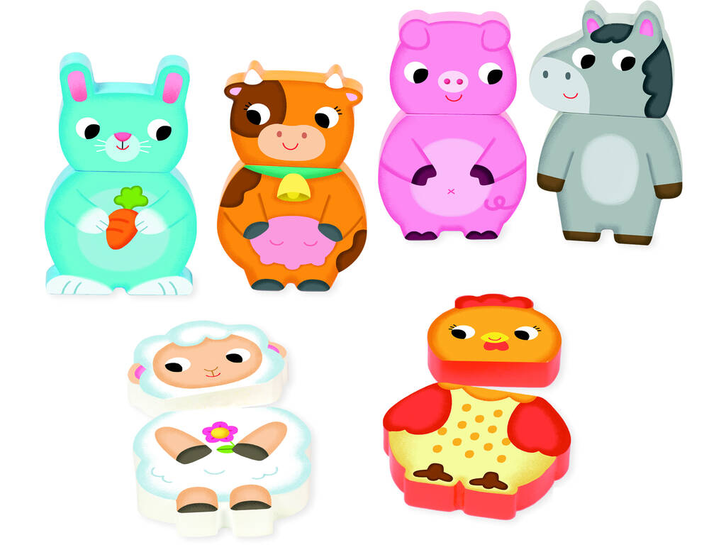 Puzzle Magnético Intercambiable Granja Goula 455245