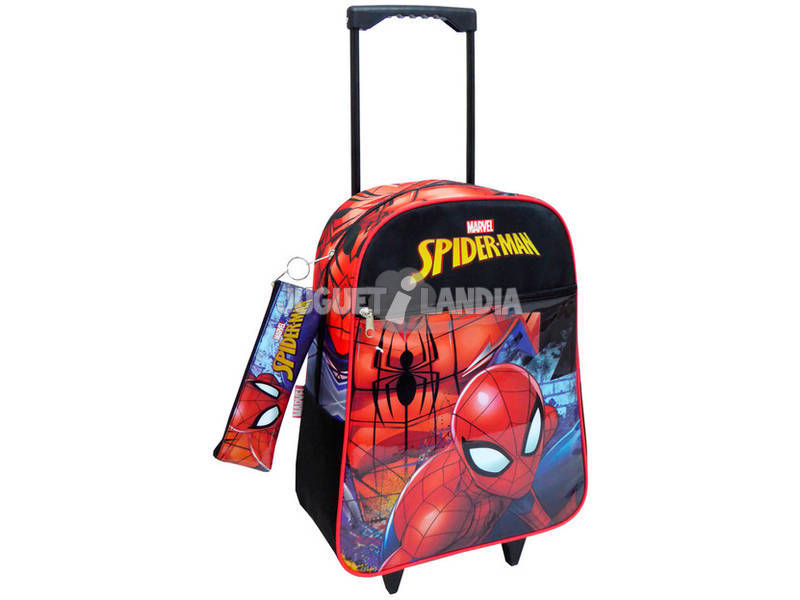 Zaino Trolley Spiderman con Astuccio Toybags 56543