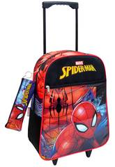 Mochila Trolley Spiderman Con Portatodo Toybags 56543