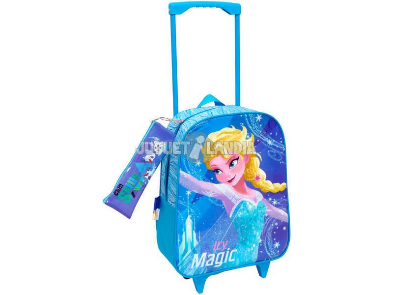 Mochila Trolley Frozen Com Portatodo Toybags T810 074