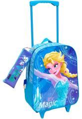 imagen Mochila Trolley Frozen Con Portatodo Toybags T810-074