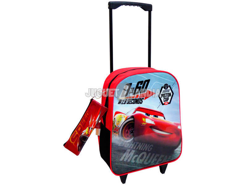 Mochila Trolley Cars Con Portatodo Toybags T810-075