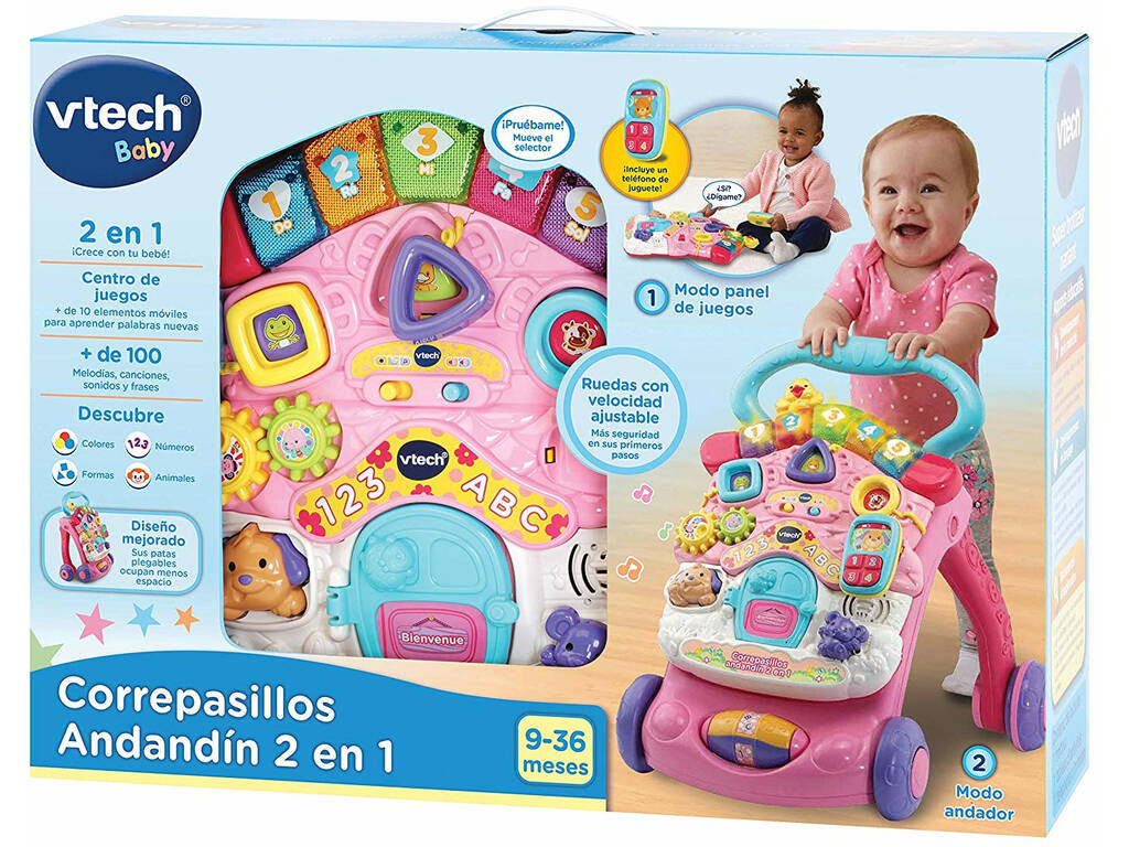 Andador Andandín Cor-de-rosa Vtech 505657