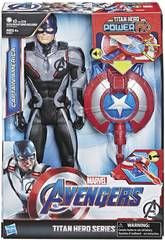 Avengers Figura Capitán América 30 cm. con Cañon Power FX Hasbro E3301