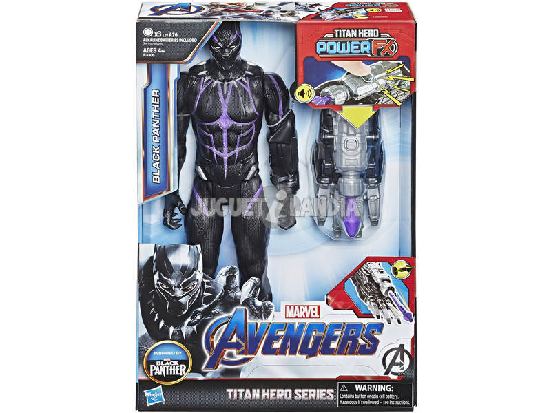 Avengers Figura Black Panther 30 cm. com Canhão Power FX Hasbro E3306