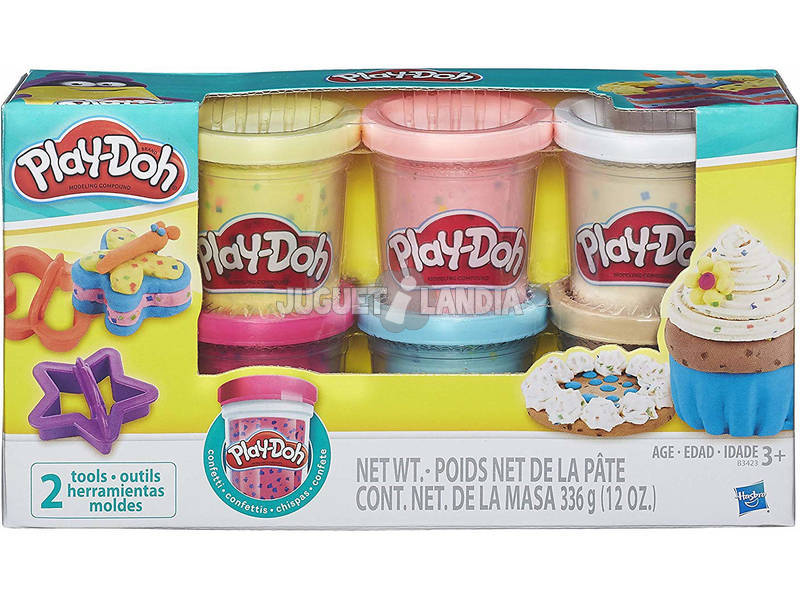 Play-doh Confete Pack 6 Potes Hasbro B3423EU6