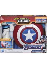 Avengers Nerf Assembler Gear Capitão América Monta e Lança Hasbro E3347