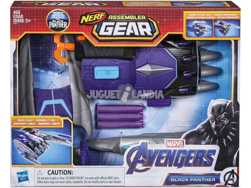 Avengers Nerf Assembler Gear Black Panther Monta e Lança Hasbro E3311