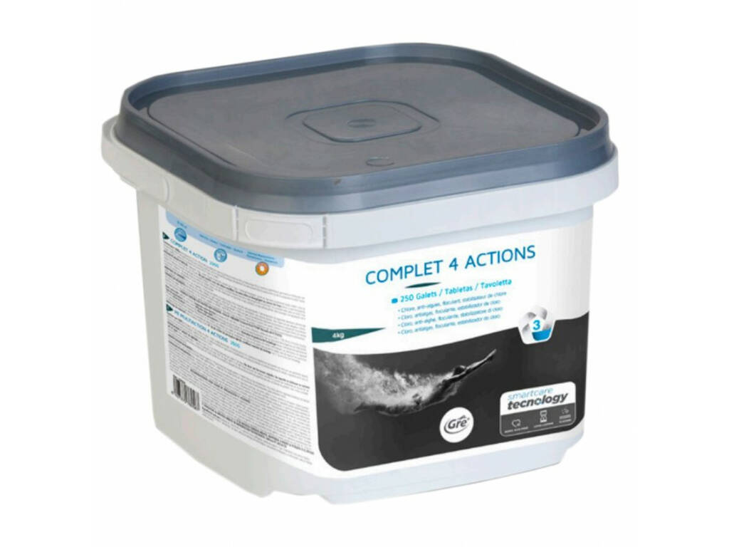Chlore Complet 4 Actions Past.250gr - 1.5kg Gre 76090