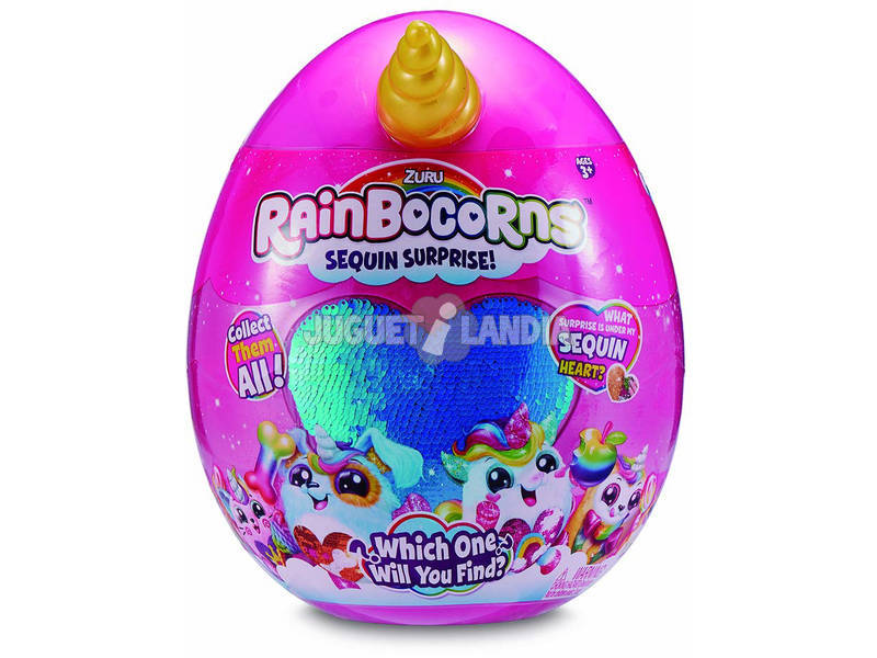 Rainbocorns Sequin Surprise Peluche Giochi Preziosi RAR0000