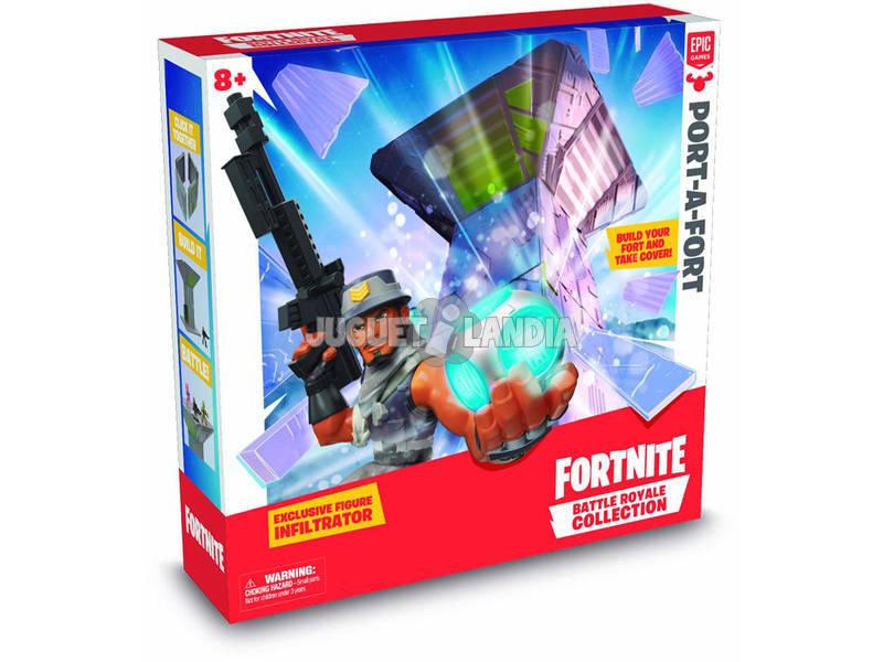Fortnite Port-A-Fort con Figura Infiltrator Giochi Preziosi FRT15000