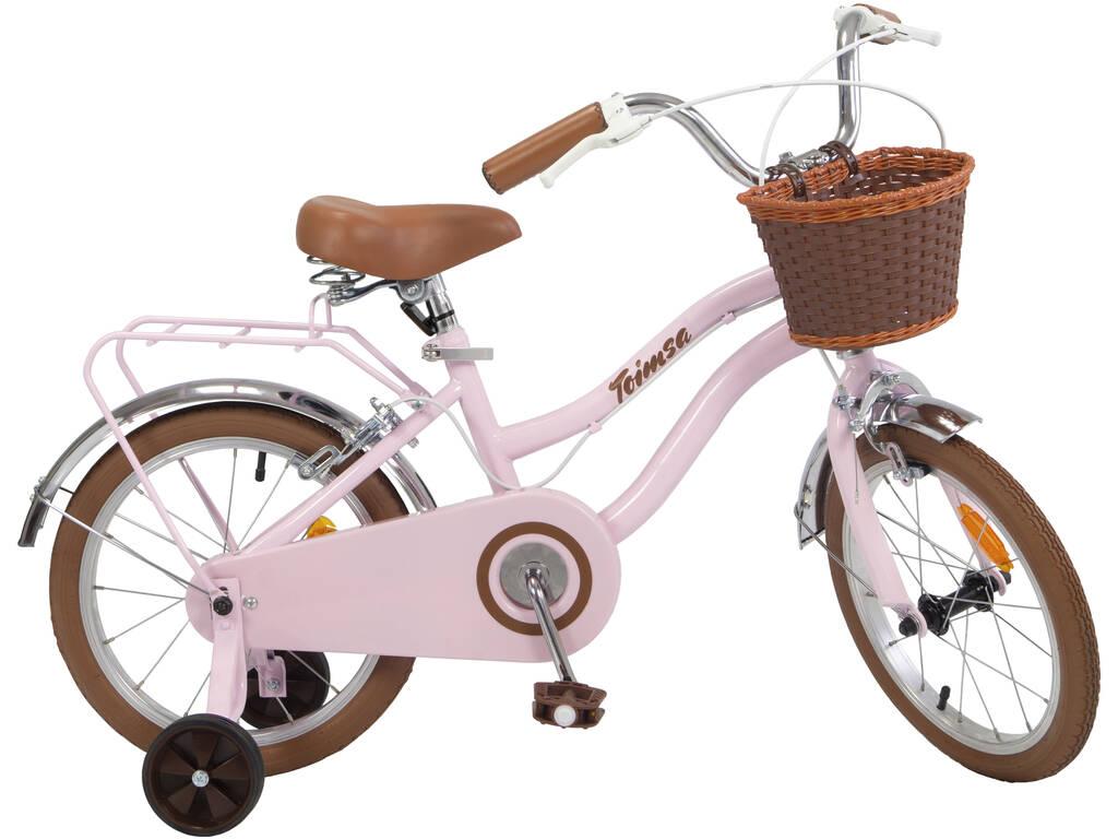 Bicicleta 16 Vintage Cor-de-Rosa Toimsa 16229