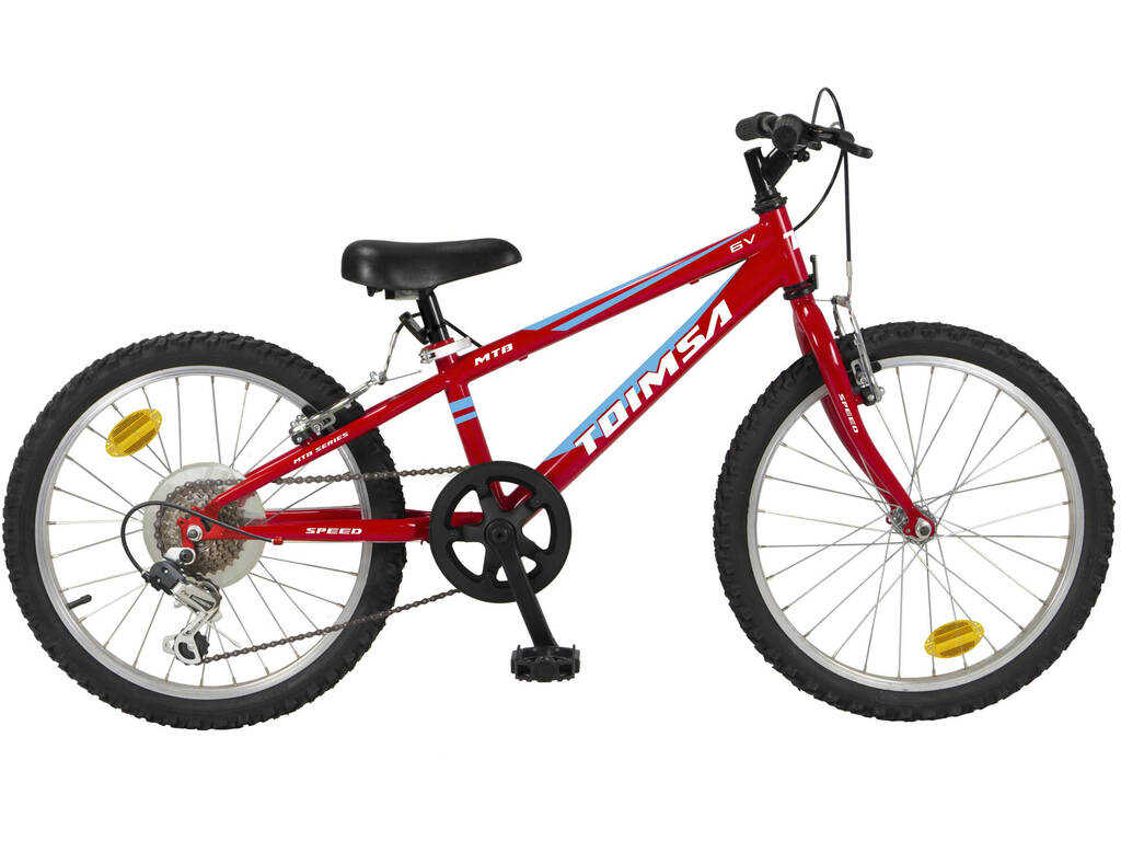 Bicicleta 20 MTB Negra 6 Velocidades Toimsa 514