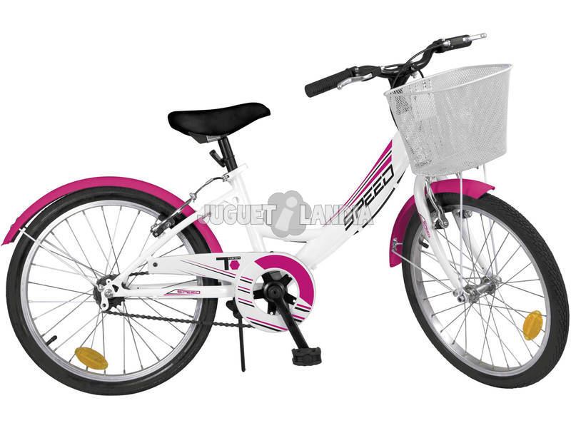 Bicicleta 20 City Blanca 6 Velocidades Toimsa 515