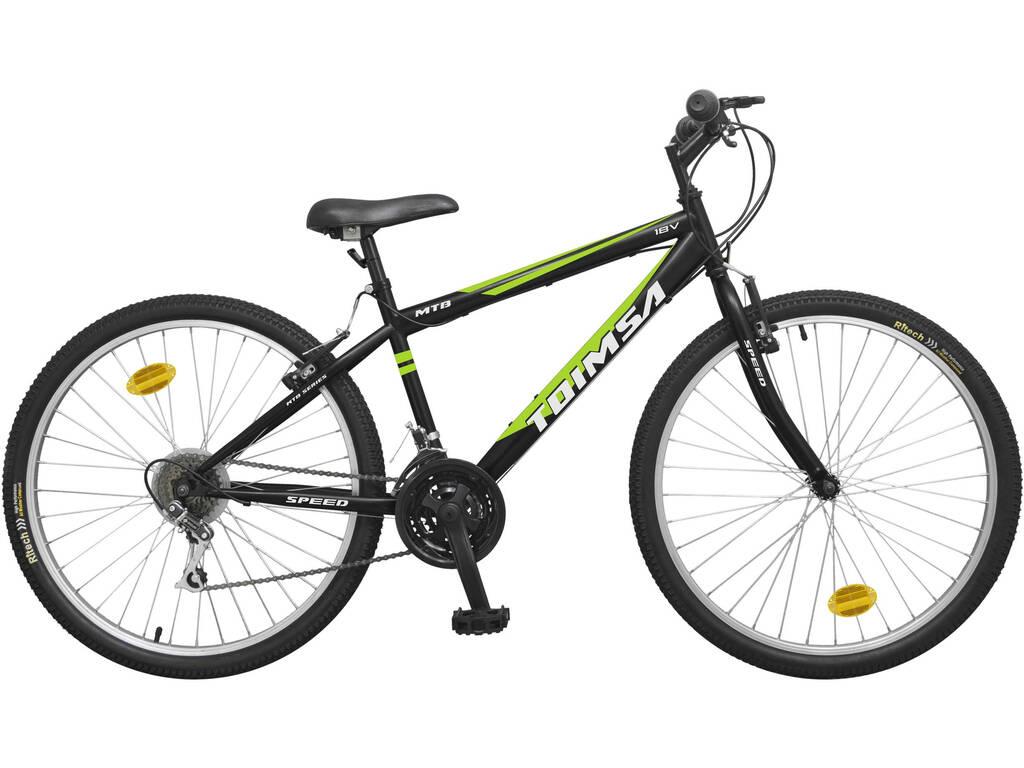 Bicicleta 26 MTB Negra 18 Velocidades Toimsa 527