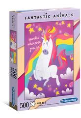 Puzzle 500 Unicornio Clementoni 35066