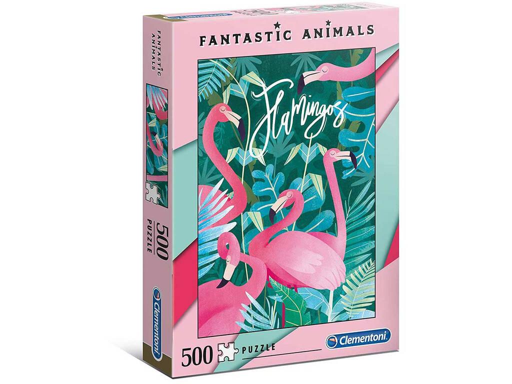 Puzzle 500 Flamingo Clementoni 35067
