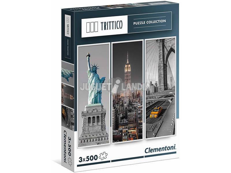 Puzzle 3x500 New York Clementoni 39305